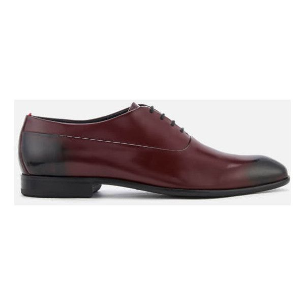 HUGO Men's Dress Appeal Brush Off Leather Oxford Shoes (7,865 THB) ❤ liked on Polyvore featuring men's fashion, men's shoes, men's dress shoes, brown, mens leather shoes, mens brown oxford shoes, mens brown oxford dress shoes, mens leather oxford shoes and mens oxford dress shoes