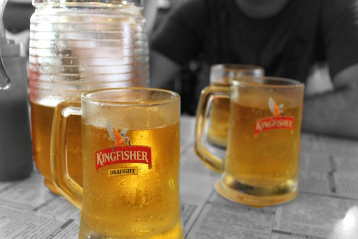 Anyone up for Kingfisher beer?? (Cafe Mondegar, Mumbai, April 2011)
