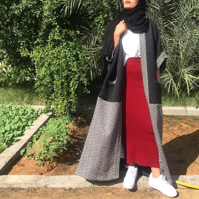 Winter abaya by @almotahajiba83