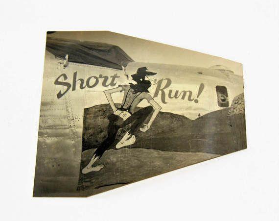 WWII Nose Art Photograph  Short Run  World War 2 Military