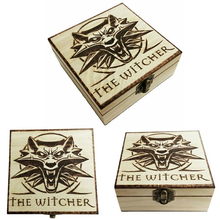 The Witcher Pyrography box / Caja Pirograbada ^^ (Customizable with name / Personalizable con nombre) www.FreakArtisan.etsy.com  #TheWitcher #Steam #Pc #playstation #Xbox #Videojuegos #Videogames #Gamer #games #Wolf #Lobo