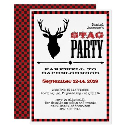 62 best Bachelor Party Invitations 5x7 images on Pinterest