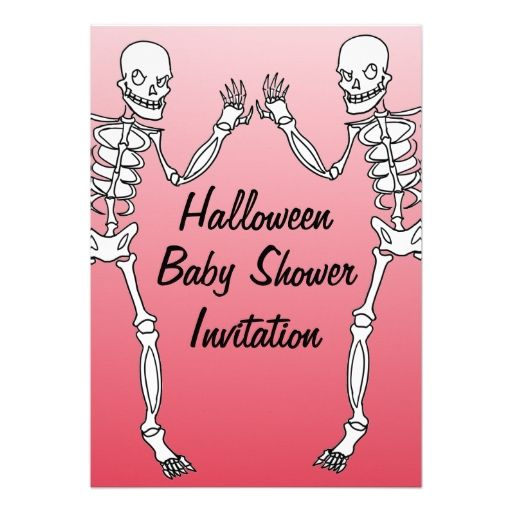 227 best halloween baby shower invitations images on pinterest halloween skeleton baby shower invitations cards stopboris Images