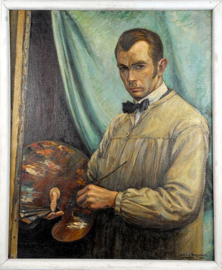 """Wojciech Marcin Podlaszewski - """"Autoportret w berecie"""", 1923 r. Olej, płótno, 34×32 cm."""