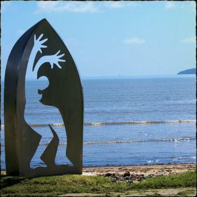 Cairns Esplanade sculpture, Cairns, Queensland, Australia.