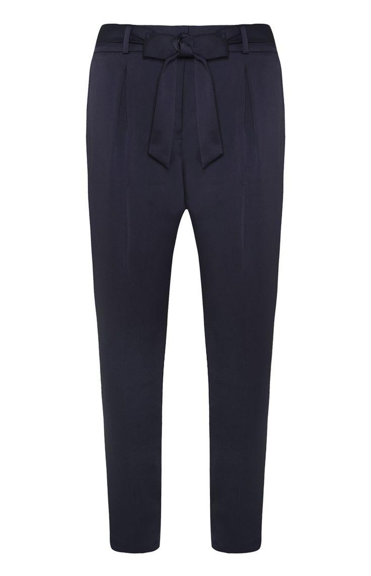 Primark - Pantalon van blauw satijn
