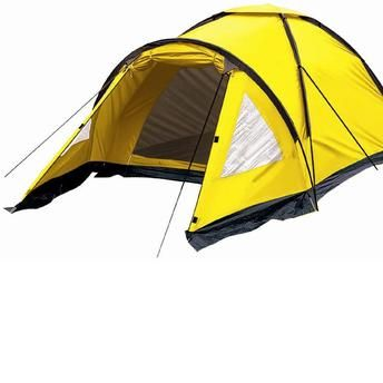 Barraca Camping Cipó com Varanda 4 pessoas Amarela 210x210x100cm Imperm. 1100 Yankee