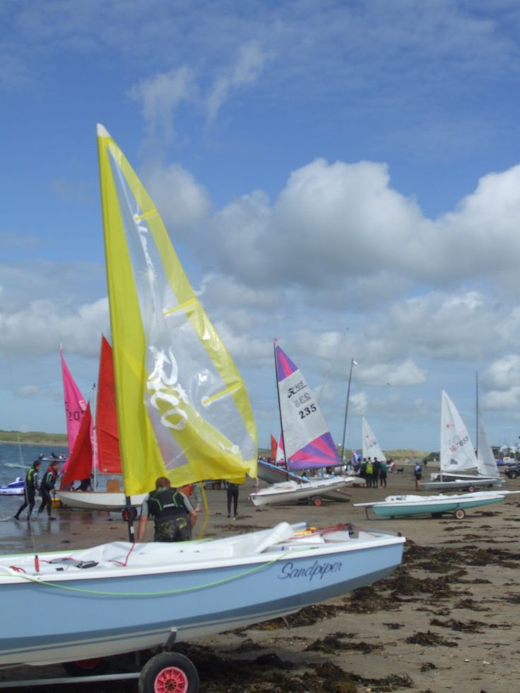 Boats and sails all tie in with the sailing wear, using plastics and unusual materials to aid sailing ability