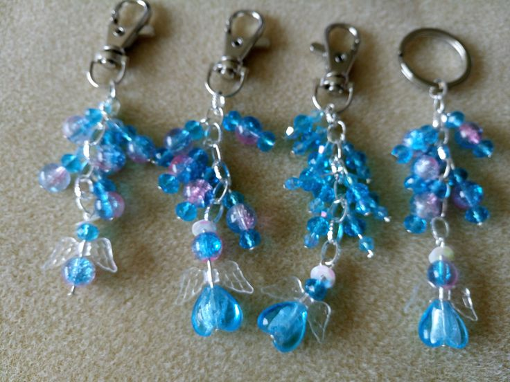 angel bag charms available in various colours