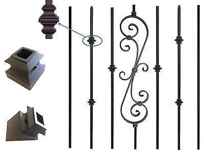 Best Balusters Basket Black Details Iron Knuckle Metal 400 x 300