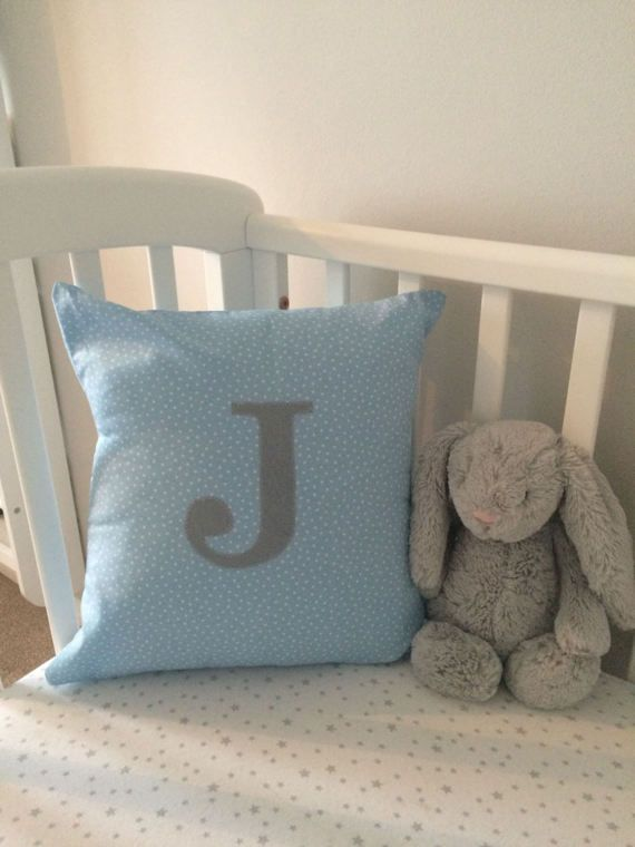 Envelope Cushion Personalised with Appliqued by BabyBearsNursery