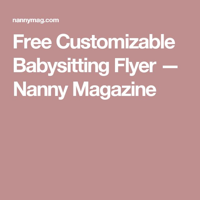 17 best ideas about babysitting flyers on pinterest