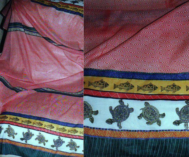 Screen printed sarongs