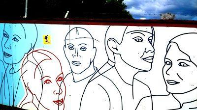 Street Art of North: Tämäkin oli katutaidetta, taidetta aidalla, aidass...