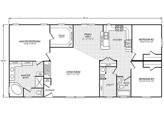 30 best images about mobile home floor plans on pinterest for Washington house plans