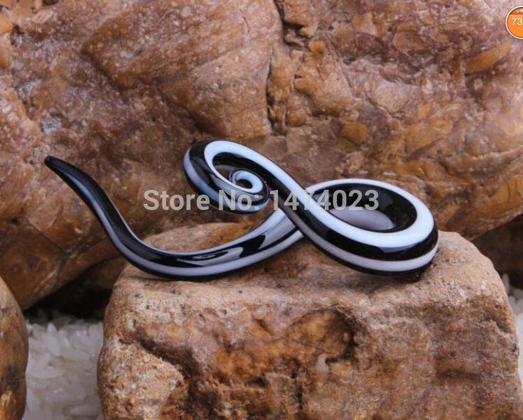 twist pair teal ear piercing gauge Acrylic Spiral Taper Flesh Tunnel Ear Stretcher ear expanders