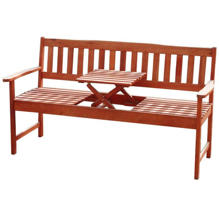 KMH® 3er Hartholz Gartenbank Tisch Sitzbank Holzbank Parkbank Bank Eukalyptus | eBay
