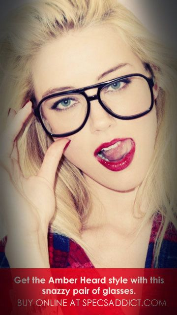 Get the ‪‎#AmberHeard‬ style with this snazzy pair of ‪#‎glasses‬. www.specsaddict.com Evergreen, classic, elegant are just a few synonyms for these beautiful pair of ‪specs‬!  FREE LENS + FREE SHIPPING glasses ‪‎#eyeglasses‬ #‪‎uae‬ ‪#dubai‬ ‪#suadiarabia‬  ‪#amberheard ‪#hollywood‬ ‪celebrity‬