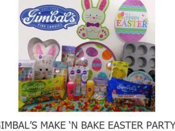 Enter the  Gimbal's Easter Giveaway for a chance to win over ten pounds of delicious Gourmet Jelly Beans, Easter cookie cutters, cupcake pan and liners, bunny cake pan, plates, utensils, treat bags, decorations, sprinkles, icing – and more! - Ends 3/31/17
