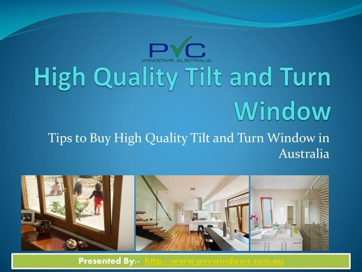 When you think to buy doors and windows or Tilt and Turn Windows in Australia keep in mind that The windows that you opt for decorating your home must be energy efficient and should enable brighter living environments to enhance the comfort level of the resident.  Read more:-   http://www.pvcwindows.com.au/double-glazed-tilt-and-turn-windows