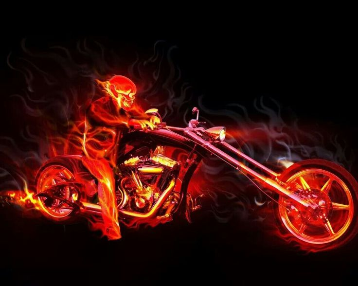 High Quality Image Detail For  Motorcycle Skull Flames Fantasy Bike Wallpaper Hd Desktop  Wallpapers .