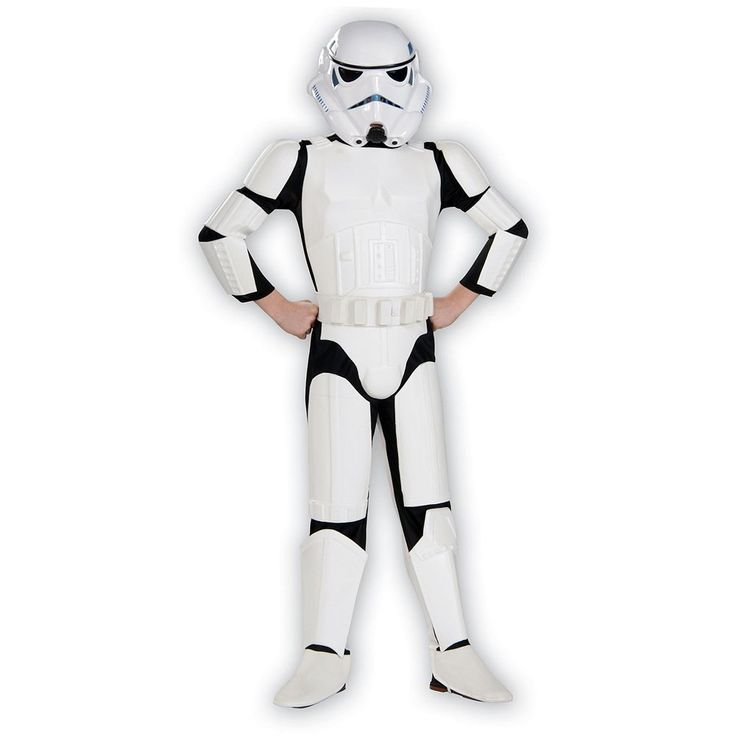 Kids Star Wars Deluxe Stormtrooper Costume, Boy's, Size: Large, White