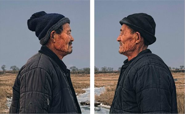 Identical twin photography by Gao Rong Guo