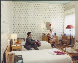 Guest room in Lennons Hotel, Brisbane, Queensland, 1965, [1] [picture]