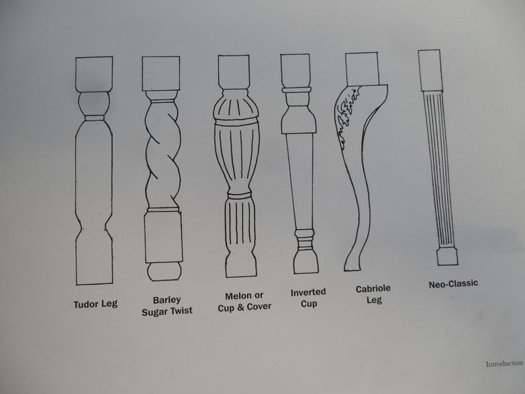 Different Types Of Furniture Legs Design Cheat Sheets