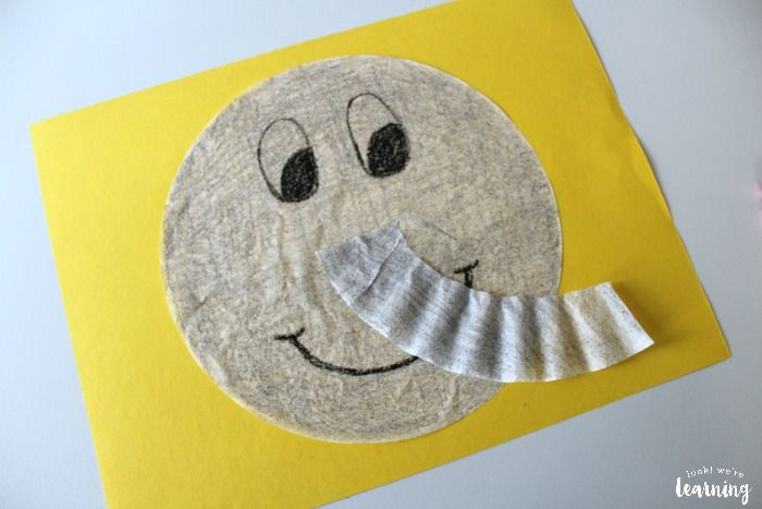 Simple Coffee Filter Elephant Craft