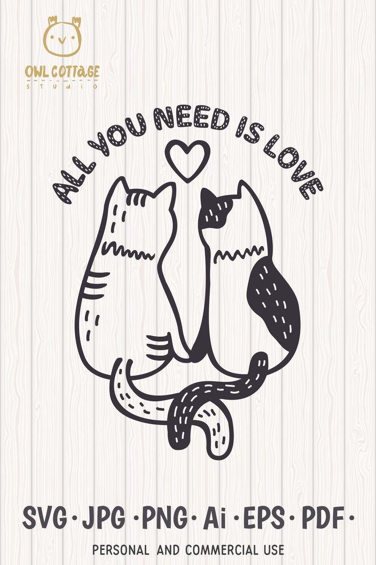 Download Valentine Cats Couple svg , Cats Clipart, Valentine's Day ...