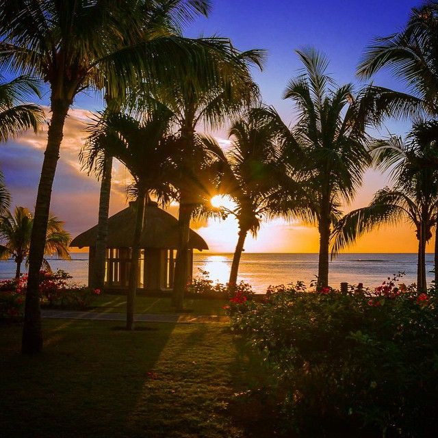Amazing sunset by Steffen Vollrath at Le Victoria, Mauritius