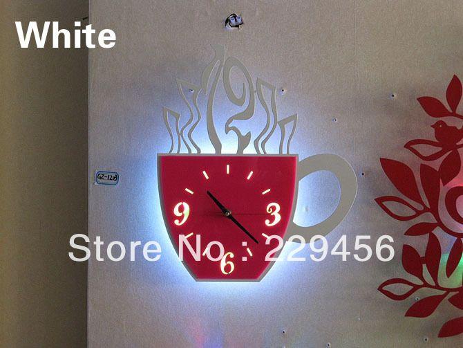 unique kitchen clock | LED Wall Clock Novelty Creative Modern Wrought Iron Quartz Silent Home ...