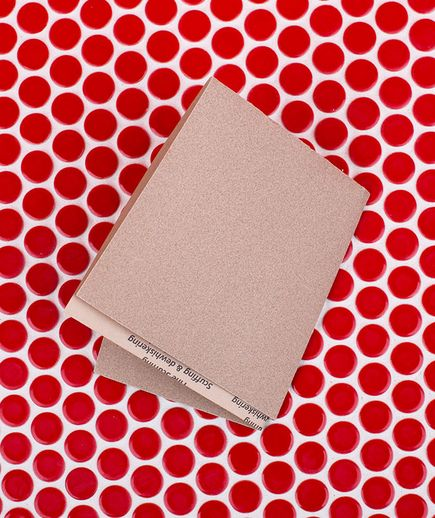 Sandpaper as Grout Cleaner   Fold a piece of medium-grit sandpaper in half, rough-side out, and use the creased edge to scrub out the stains in bathroom-tile grout.