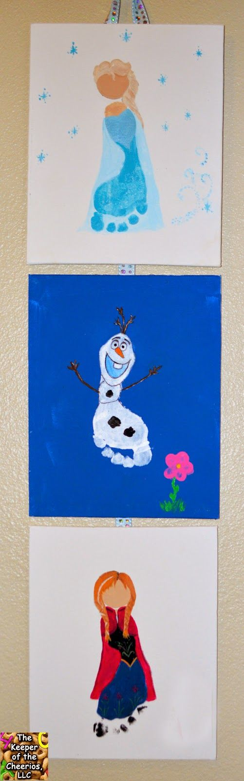 Frozen Footprints Crafts for Kids (elsa, anna, and olaf)
