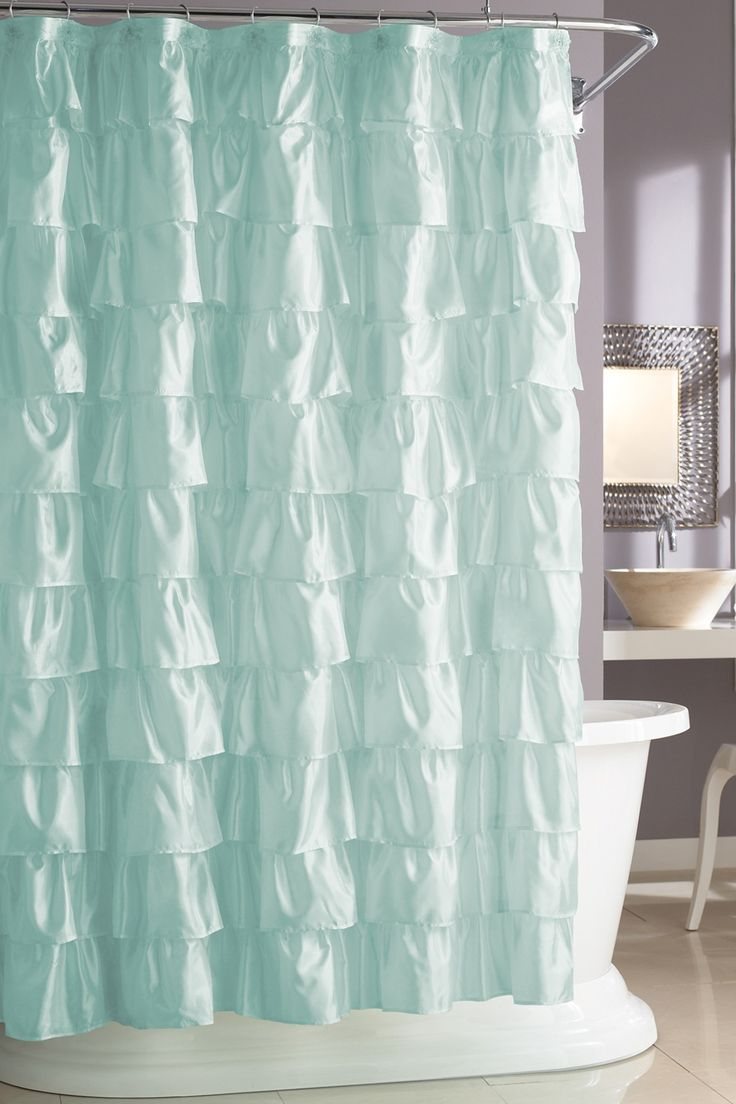 Diy seashell bathroom decor - It Looks Like Waves In The Ocean Steve Madden Ruffles Shower Curtain 24 99