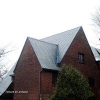Toiture en ardoise. Idée de toiture. Tuile d'ardoise pour toit. Fabriqué par Ardobec.