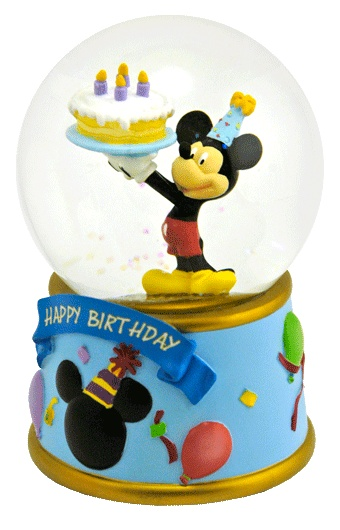 mickey mouse happy birthday snowglobes pinterest. Black Bedroom Furniture Sets. Home Design Ideas