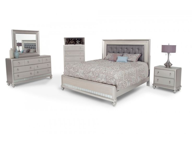 Diva 8 Piece Queen Bedroom Set | Diva | Bedroom Collections | Bedroom | Bob's Discount Furniture