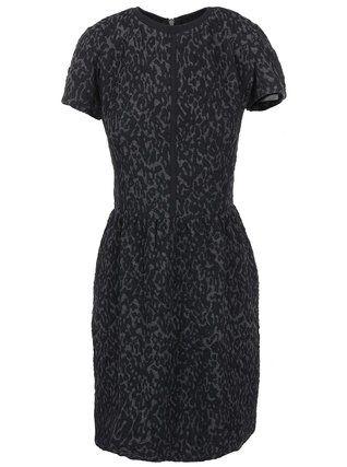 ICHI - Šedo-černé vzorované šaty  Reina - 1