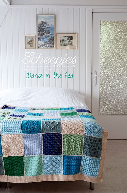 'Dance in the Sea', the Scheepjes CAL 2016 is almost ready to kick off. This wonderful design has been started by Wink from A creative Being, and has been finished by her fellow bloggers and friends in loving memory of her. Come join us in making this wonderful blanket in the #Scheepjes CAL Facebook group! For each kit sold, Scheepjes will donate 2 euro's to the charity 'Mind'.