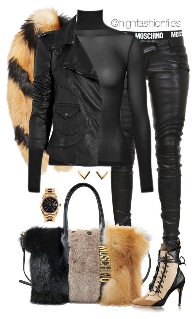 X by highfashionfiles on Polyvore featuring polyvore fashion style Lot78 Balmain E L L E R Y Moschino Rolex clothing