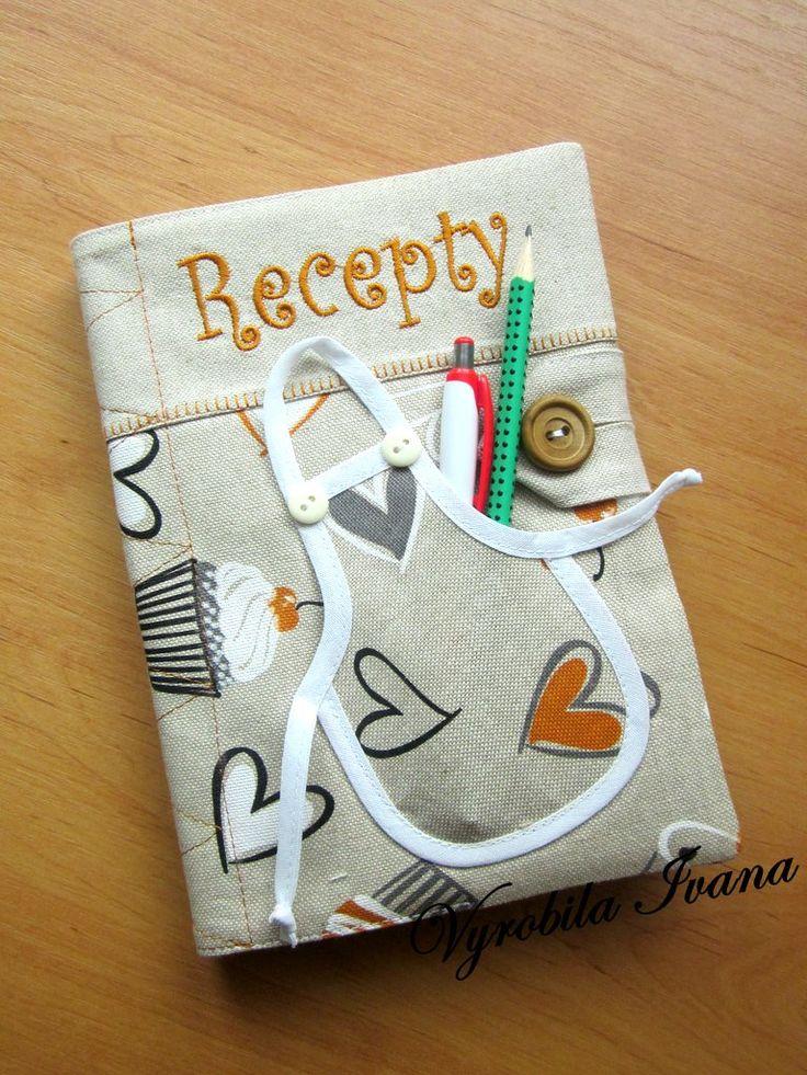 Obal + zápisník na recepty Srdiečka a zásterka