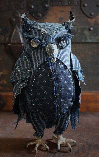 Винтажные птицы из ткани и кружев от Ann Wood. — Мир вязания и рукоделия