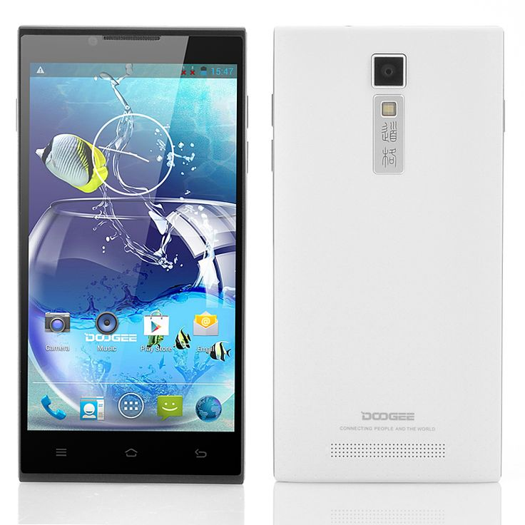 DOOGEE DG2014 5 Inch Quad Core Android Phone (IPS OGS 1280x720 Screen, 1.3GHz CPU, White)