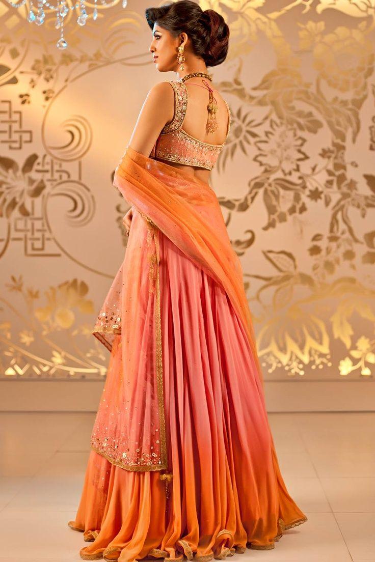 11 best bridal wear images on pinterest indian outfits indian orang indian wedding dressesindian weddingsasian ombrellifo Gallery