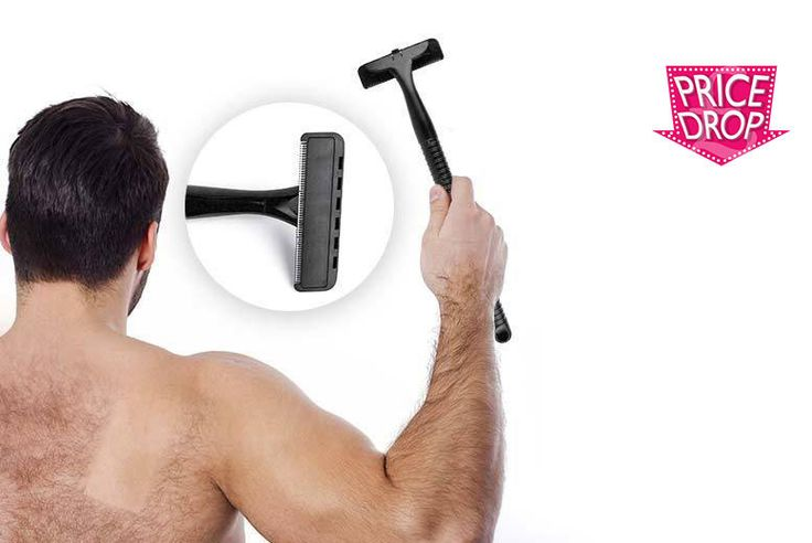 "Men's XL Back Shaver deal in Shaving Get groomed with a 4"" back shaver.  Access those hard-to-reach areas.  Get rid of unsightly back hairs.  Curved and lightweight handle, with a handy easy-to-replace blade.  The perfect grooming aid for the hirsute gentleman in your life! BUY NOW for just £9.00"