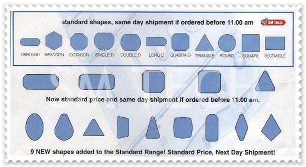 Wilson Tool 2D standard shape tools (same day shipment if ordered before 11.00 am)   Scule forme standard Wilson Tool - livrare in aceeasi zi pentru comenzi plasate pana in ora 11.00