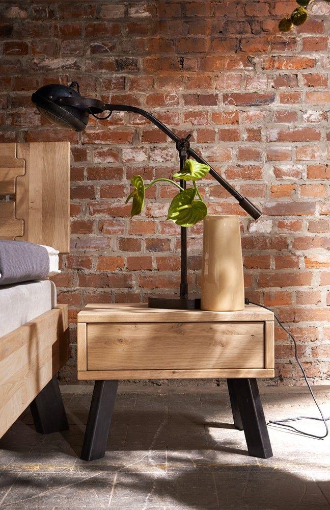 Nachttisch Modern Sleep | Im Industrial Stil Designt, Orientiert Sich  Dieser Nachttisch Aus Eiche Und