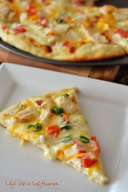Chicken Ranch Pizza Recipe ~ Says:  absolutely DIVINE! There are literally no words to describe how delicious this pizza was. The flavor… was simply perfect.